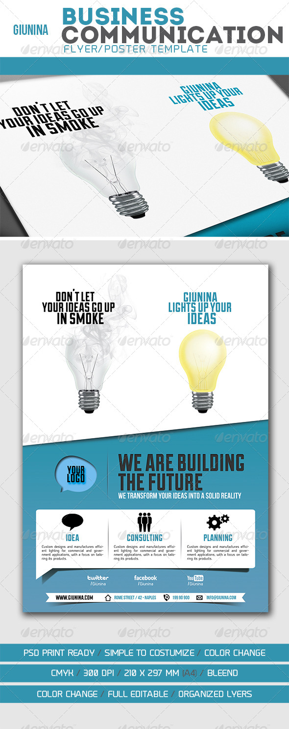 Business Communication Flyer/Poster - Corporate Flyers