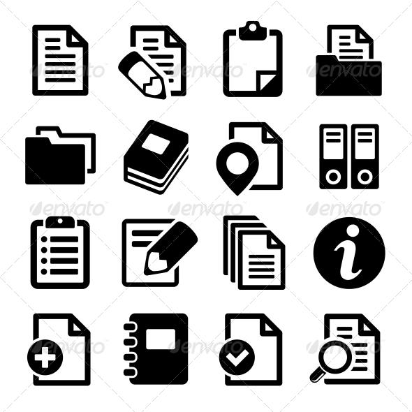 Documents and Folders Icons Set - Web Icons