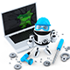 3D Robot Repairing Laptop - GraphicRiver Item for Sale