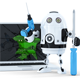 3D Robot with Broken Laptop - GraphicRiver Item for Sale