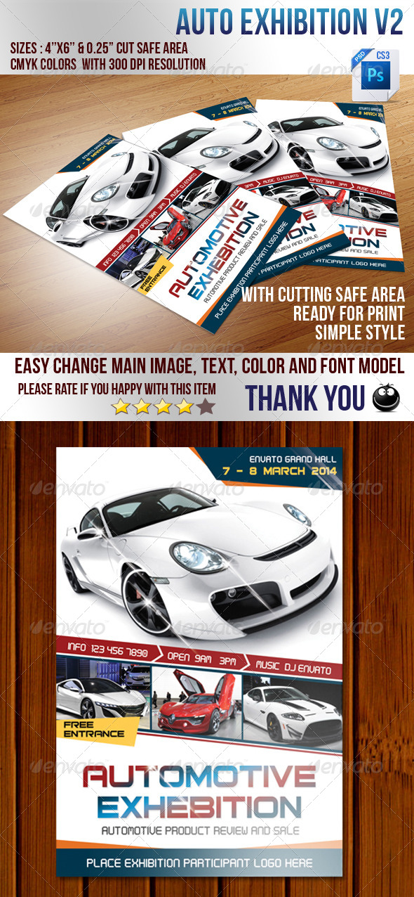 Auto Exhibition V2 - Events Flyers