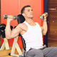Muscular Man Lifting Weights at Gym Centre - VideoHive Item for Sale
