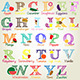 Illustrated Alphabet Letters - GraphicRiver Item for Sale