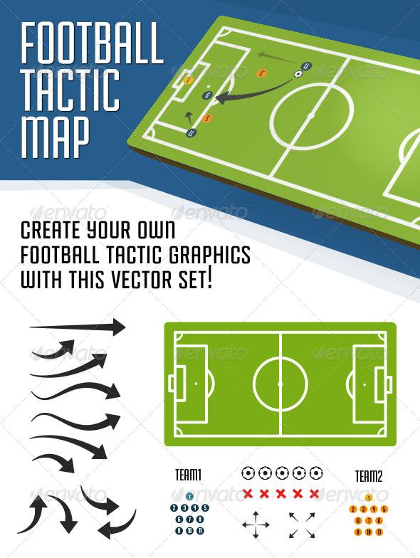 Football Tactical Map - Miscellaneous Vectors