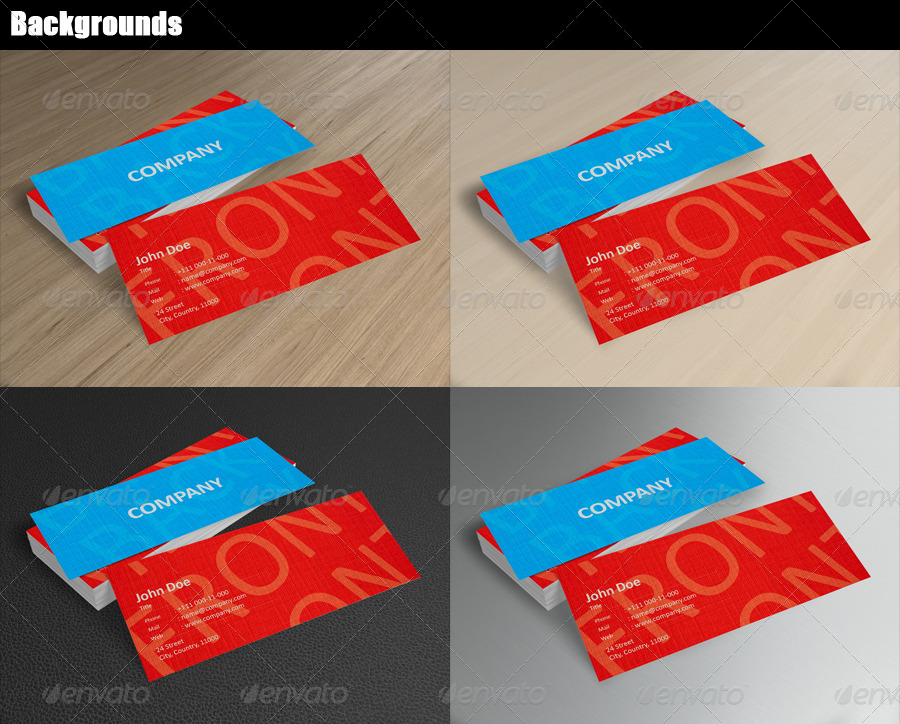 Mini Business Card Mock-Up by BlueVistaDesign | GraphicRiver