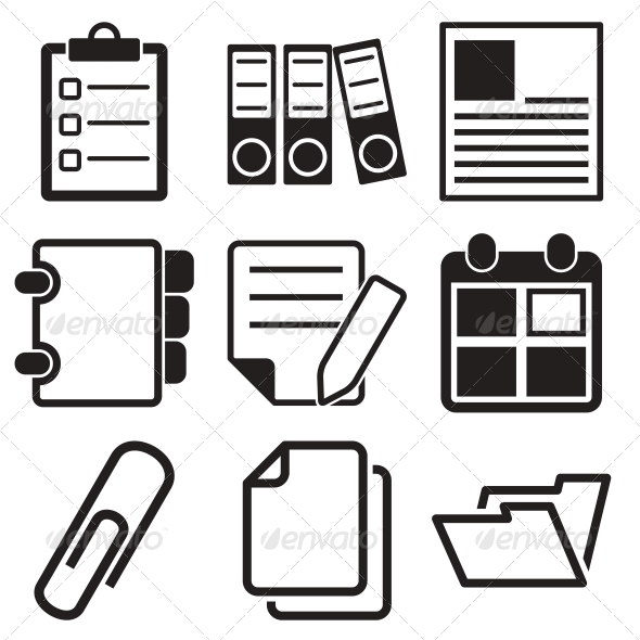 Document Office Icons - Business Icons