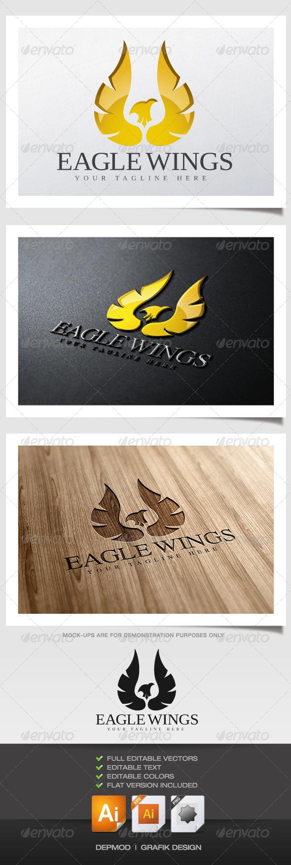 Eagle Wings Logo - Crests Logo Templates