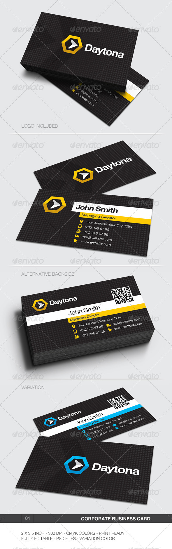 Corporate Business Card - 01 - Corporate Business Cards