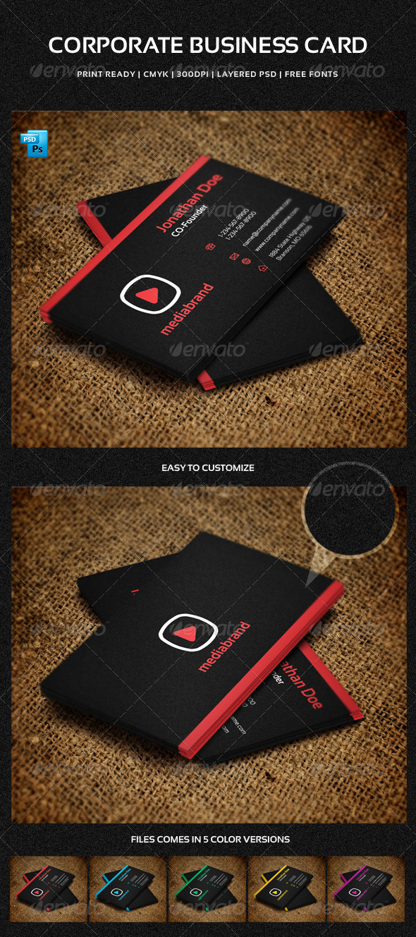 Corporate Business Card - 2 - Corporate Business Cards