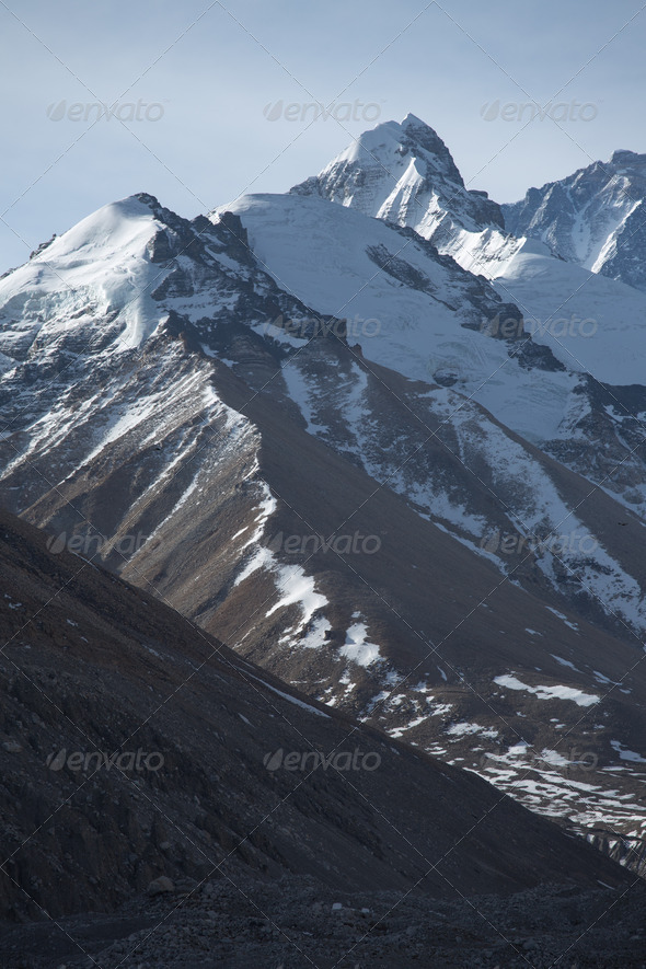 Mount Everest at 8850 m - Stock Photo - Images