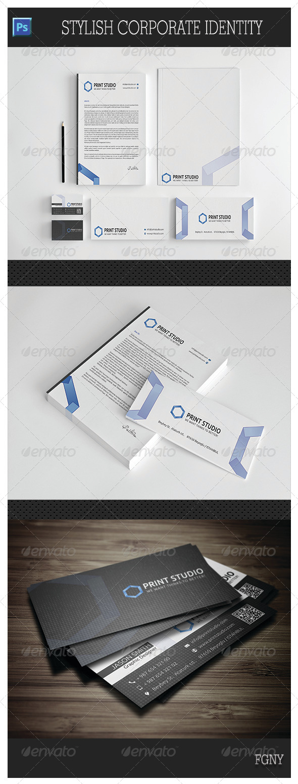 Stylish Corporate Identity - Stationery Print Templates