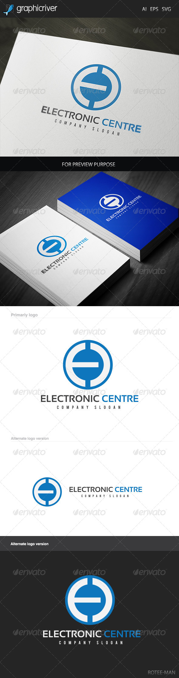 Electronic Centre Logo - Letters Logo Templates