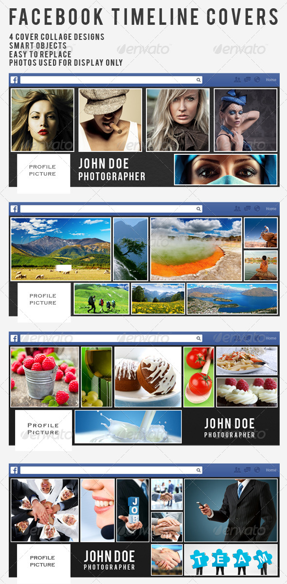 Collage Facebook Timeline Covers - Vol.1 - Facebook Timeline Covers Social Media