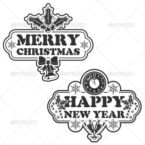 Christmas Stamp - Christmas Seasons/Holidays