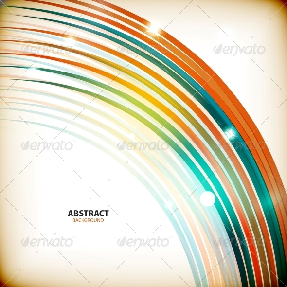 Colorful Swirl Lines Abstract Background - Abstract Conceptual