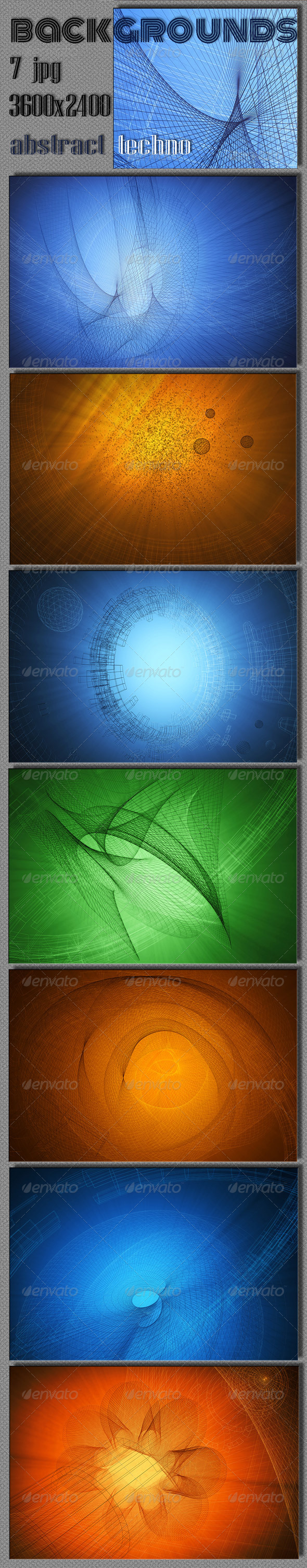 Abstract Techno Background - Tech / Futuristic Backgrounds