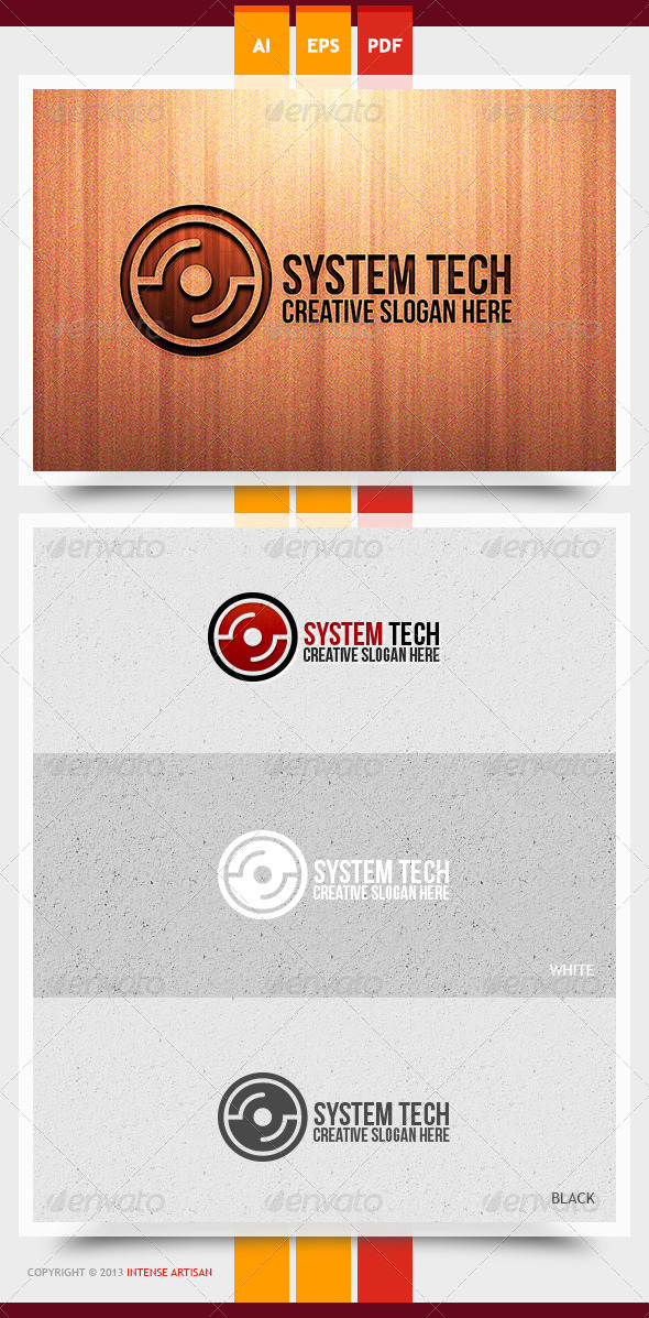 System Tech Logo Template - Objects Logo Templates
