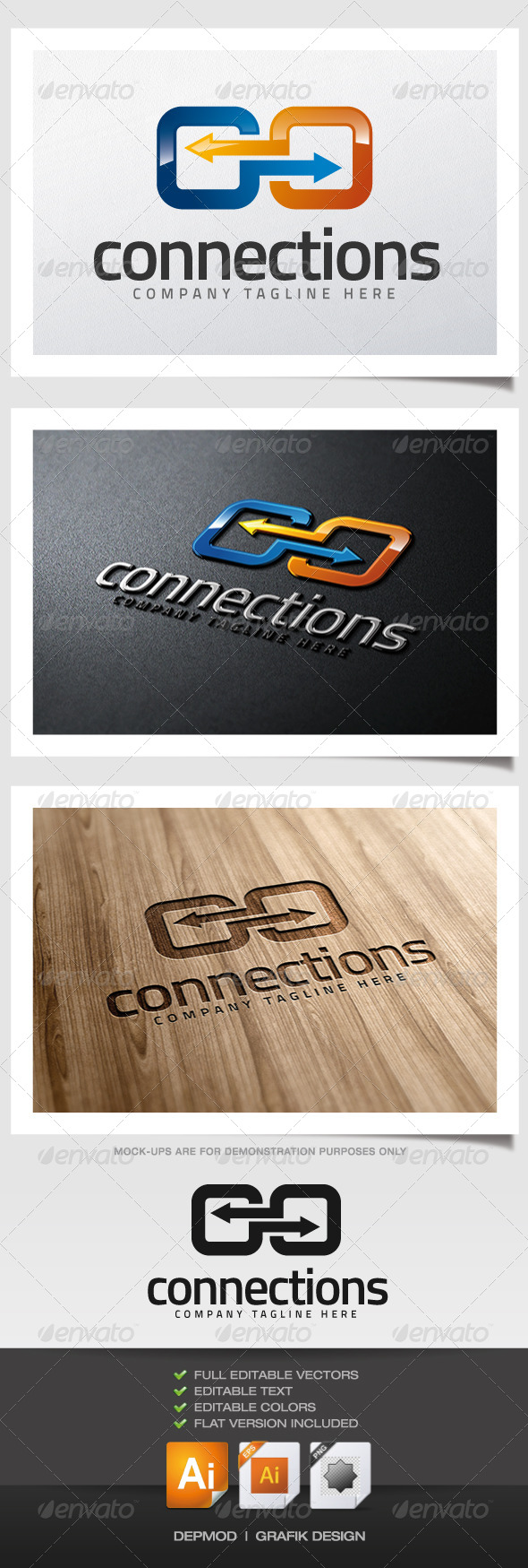 Connections Logo - Symbols Logo Templates