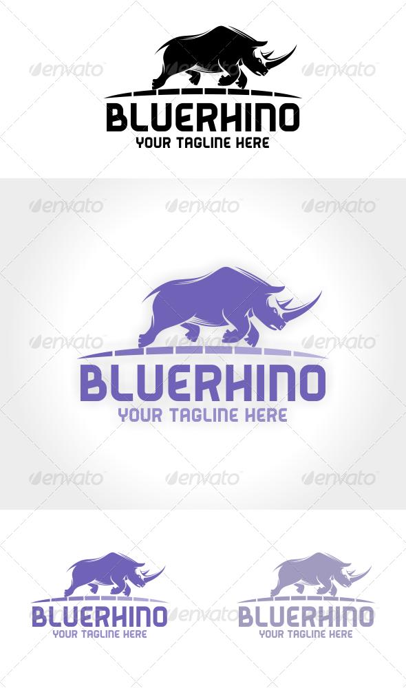 Blue Rhino Logo Template - Animals Logo Templates