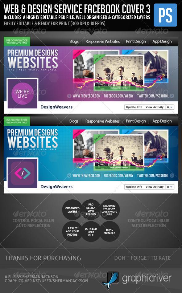 Web Design Service Facebook Cover Image 3 - Facebook Timeline Covers Social Media