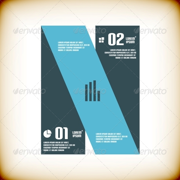 Modern Ribbon Business Banner Template - Abstract Conceptual
