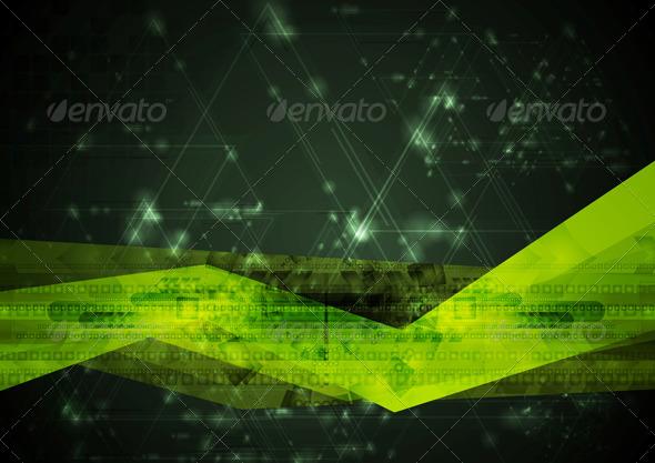 Abstract Hi-Tech Vector Illustration - Technology Conceptual