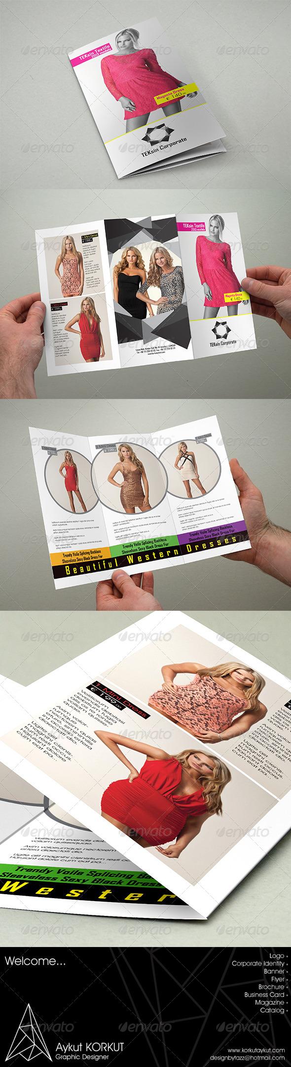 Teksin Corporate Brochure Template - Brochures Print Templates