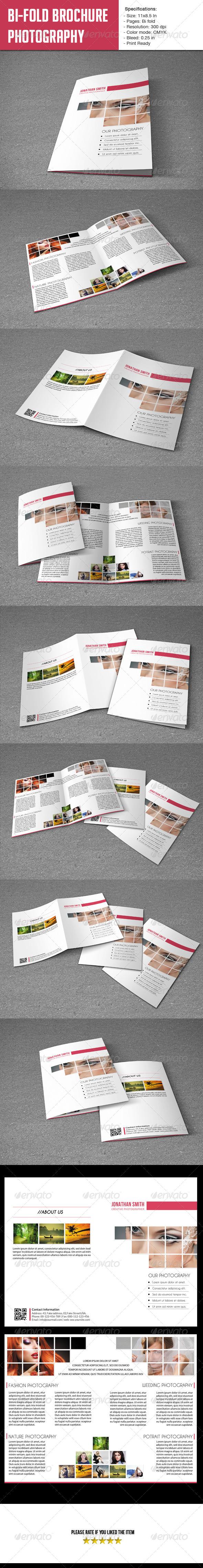 Bifold Brochure-Photographer - Portfolio Brochures