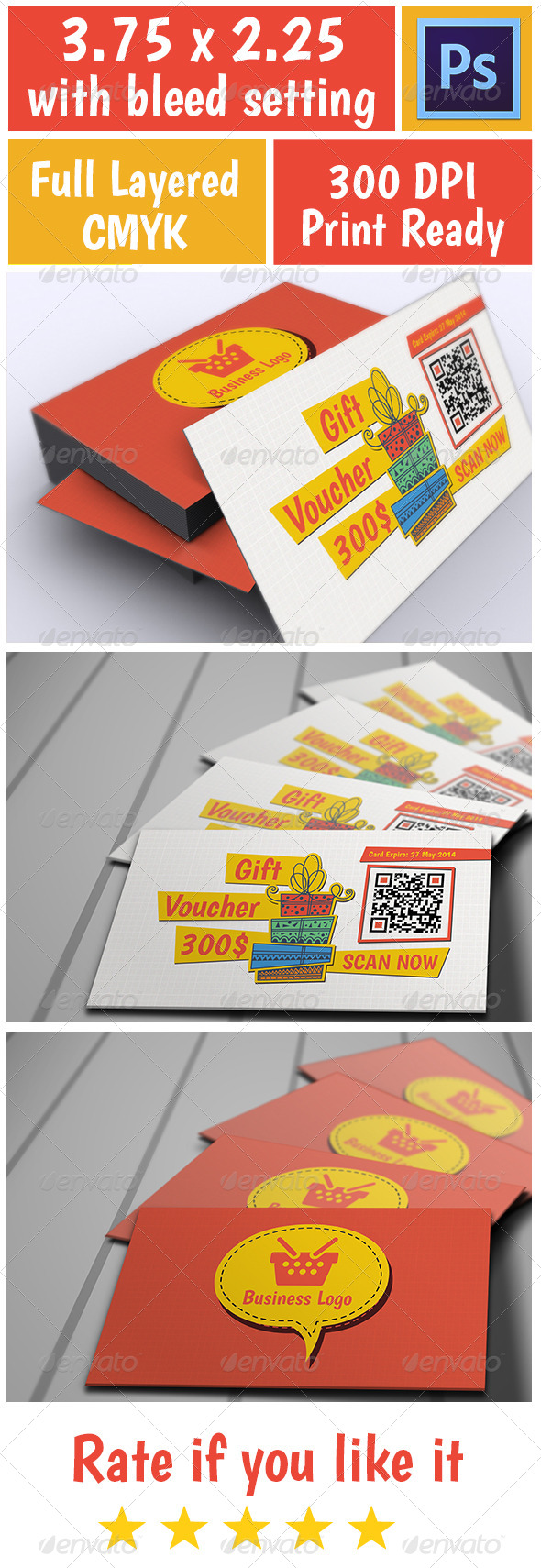 Voucher Card 1 - Cards & Invites Print Templates