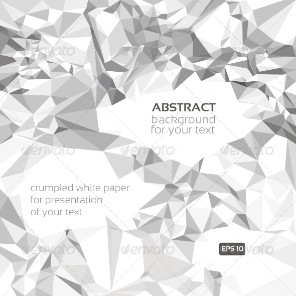 Abstract Vector Crumpled Paper Banner  - Backgrounds Decorative
