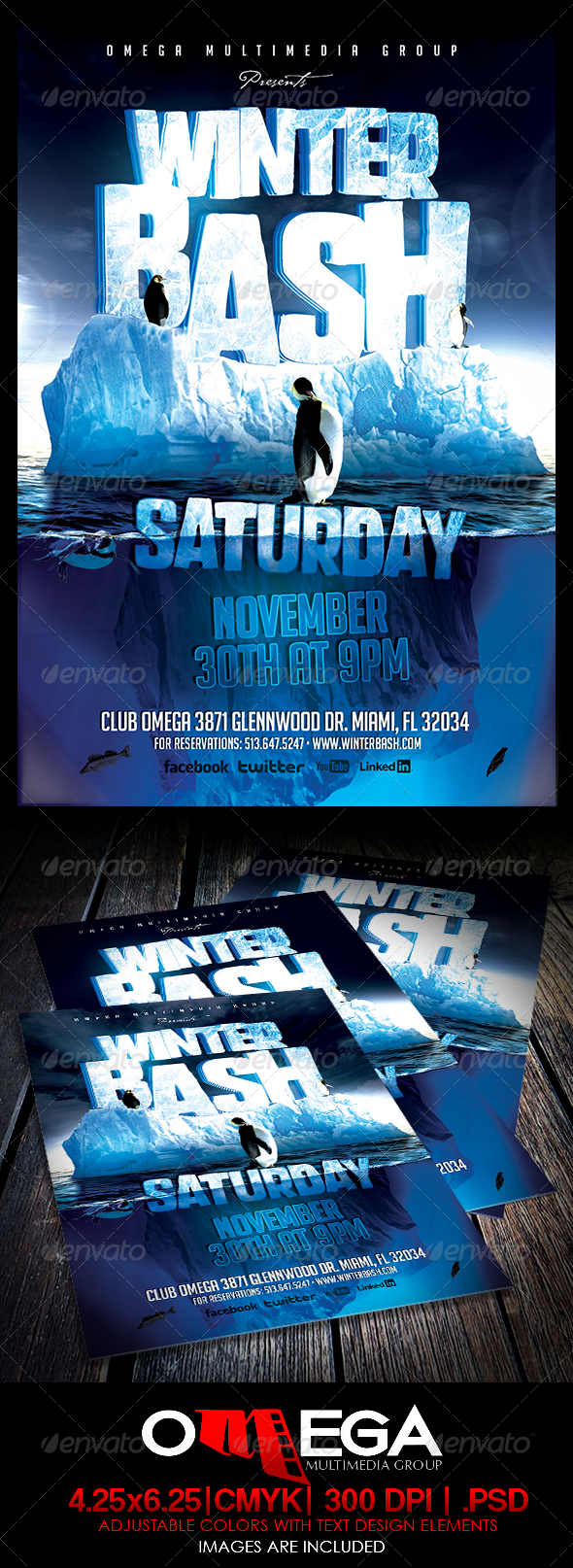 Winter Bash - Events Flyers