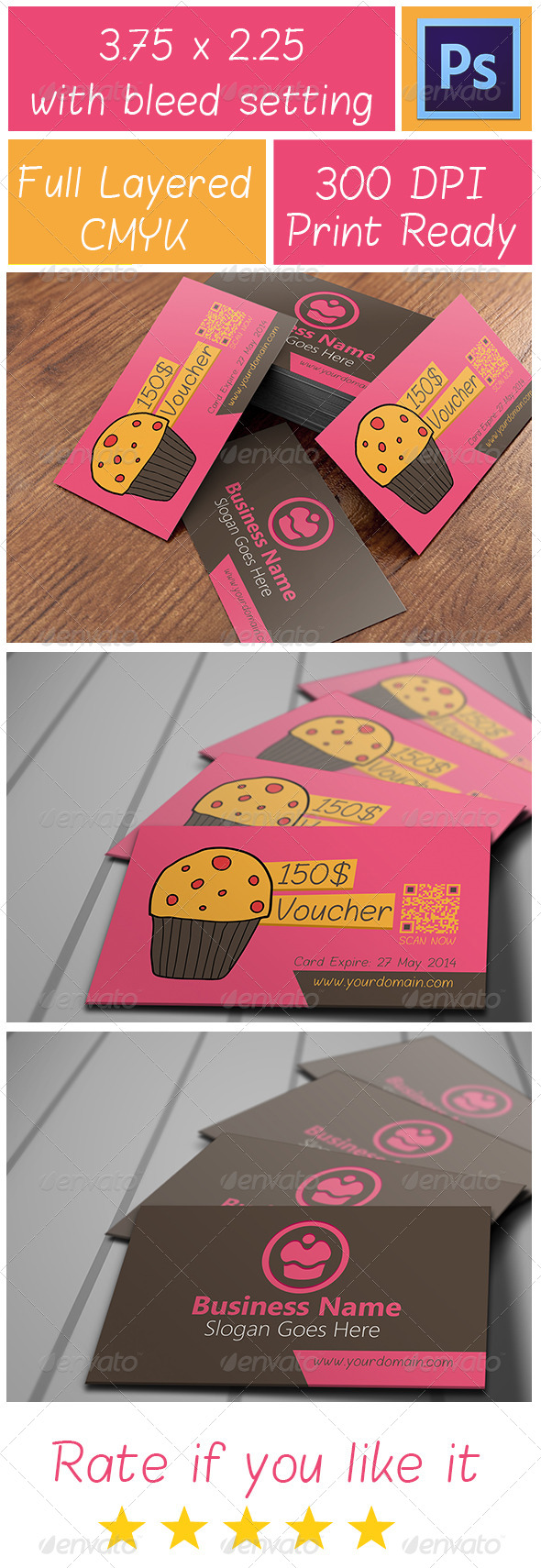 Voucher Card 3 - Cards & Invites Print Templates