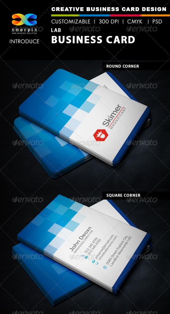 Lab Business Card - Corporate Business Cards