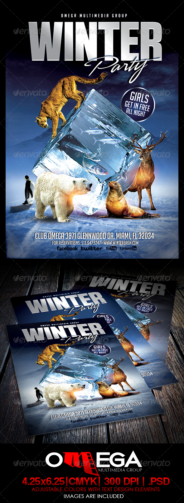 Winter Party - Events Flyers