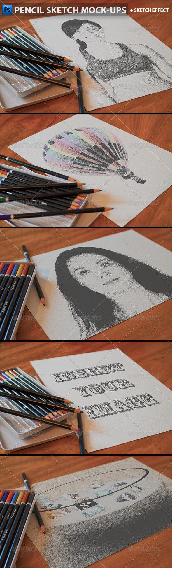 Pencil Sketch Mock-Ups - Miscellaneous Product Mock-Ups