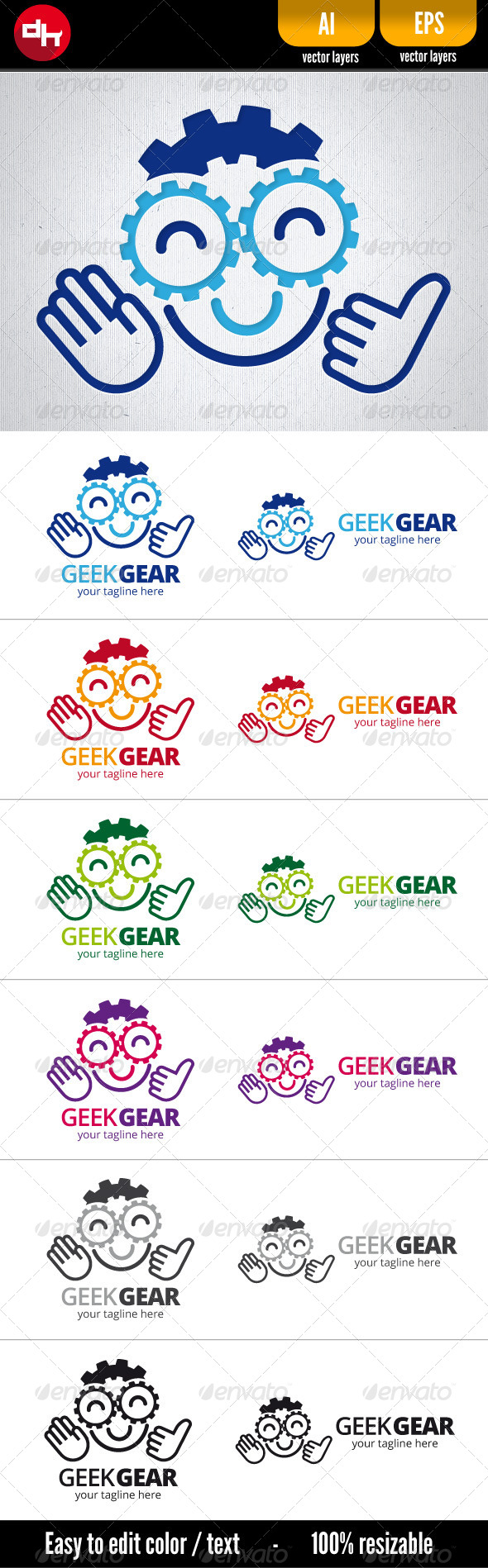 Geek Gear - Humans Logo Templates