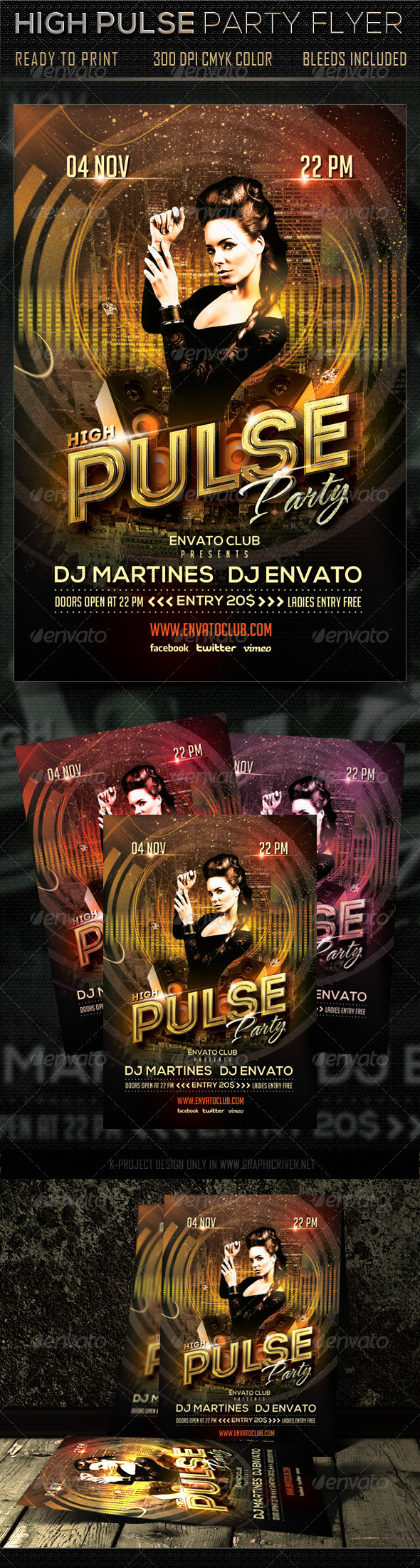 High Pulse Party Flyer - Clubs & Parties Events