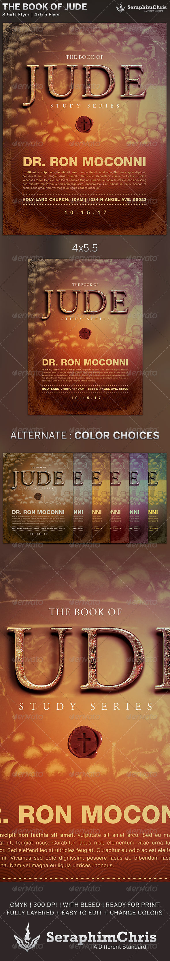 The Book of Jude: Church Flyer Template - Church Flyers