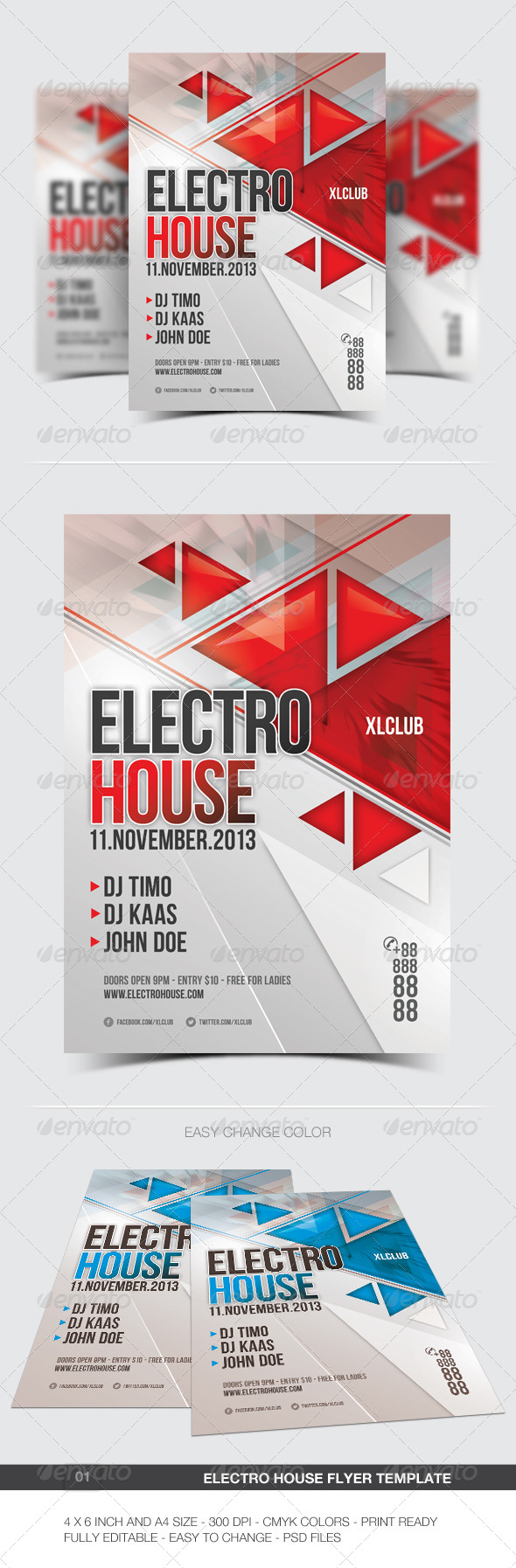 Electro Flyer/Poster - 01 - Clubs & Parties Events