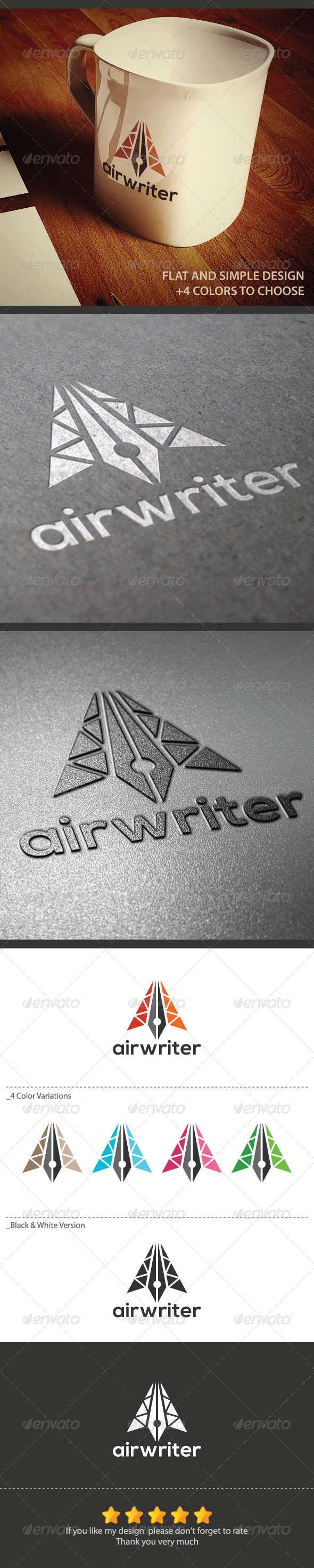 Airwriter Logo - Objects Logo Templates