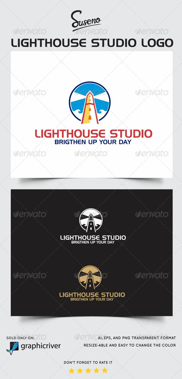 Lighthouse Studio Logo - Buildings Logo Templates