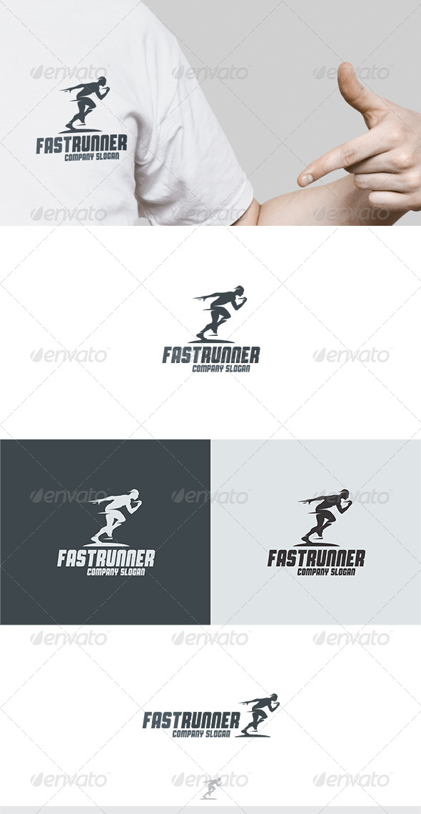 Fast Runner Logo - Humans Logo Templates