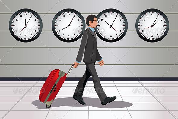Traveling Businessman - Business Conceptual