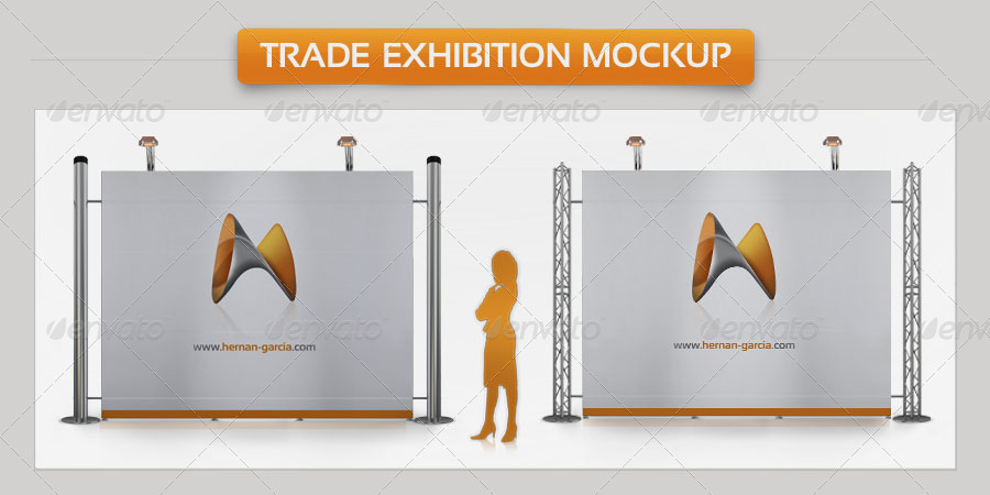 Exhibition Stall Mockup Psd : Trade exhibition mock up by garhernan graphicriver