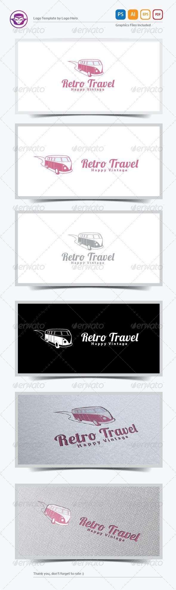 Retro Travel Logo Template - Objects Logo Templates