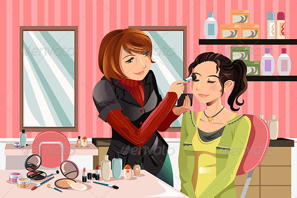 Makeup Artist at Work - People Characters