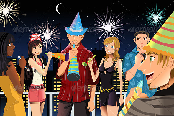 New Year Celebration Party - New Year Seasons/Holidays