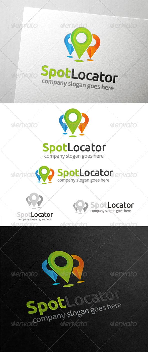 Spot Locator Logo - Symbols Logo Templates