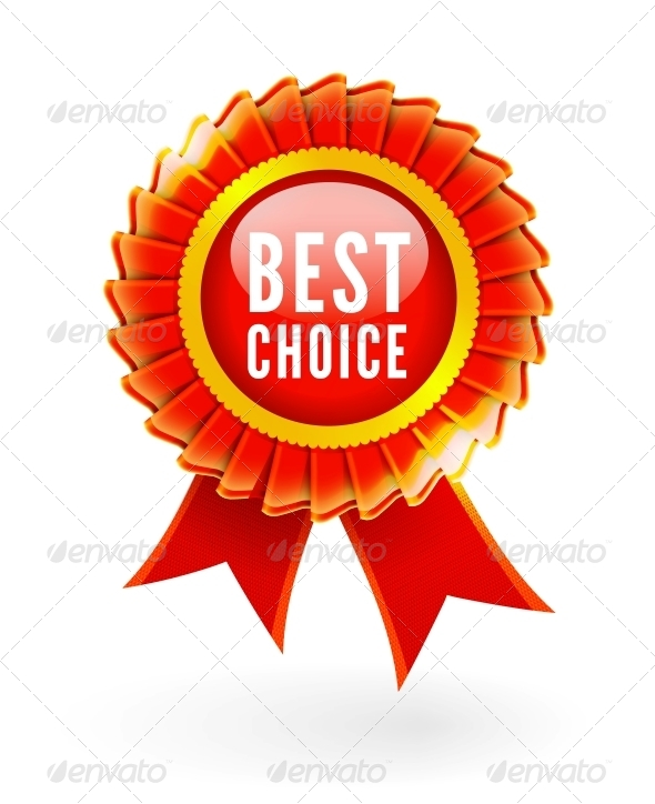 Best Choice Red Label with Ribbons - Retail Commercial / Shopping