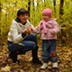Little Baby Playing with Mother in Autumn Color - VideoHive Item for Sale